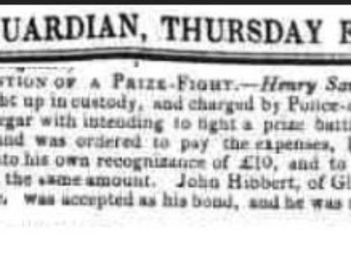 Henry Savage – 1849-10-04-SAVAGE – Prevention Of Prize Fight – Nottinghamshire Guardian