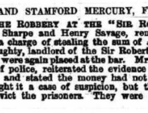 Henry Savage – 1858-12-23 – Burglary Discharged – Stamford Mercury