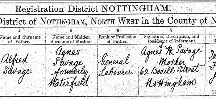 Albert Savage b. 1913 - Birth Certificate